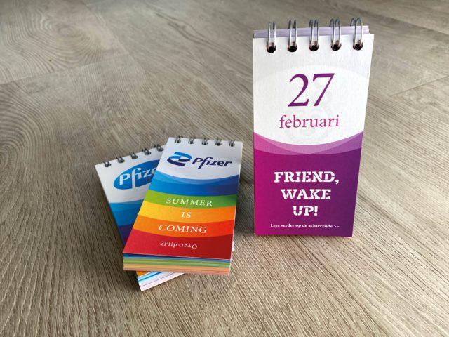 Flip-over kalender Pfizer
